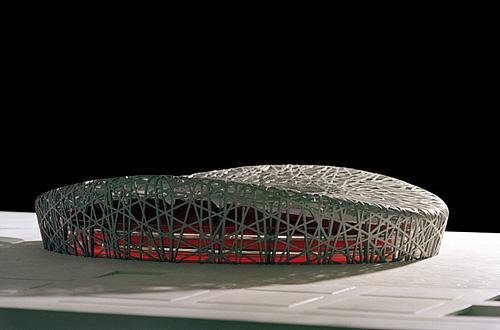 architekturmodell olympiastadion vogelnest peking. Black Bedroom Furniture Sets. Home Design Ideas