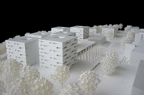 architekturmodell wohnstift augustinum stuttgart b la. Black Bedroom Furniture Sets. Home Design Ideas