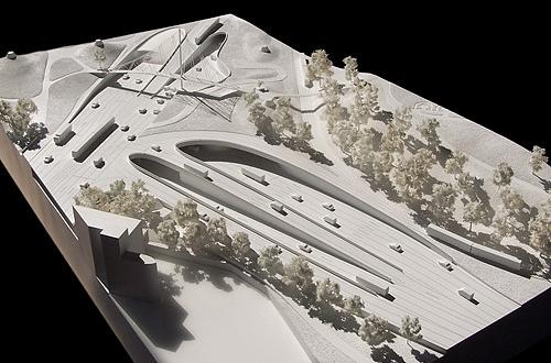 architekturmodell neubau b10 leuzetunnel stuttgart b la. Black Bedroom Furniture Sets. Home Design Ideas
