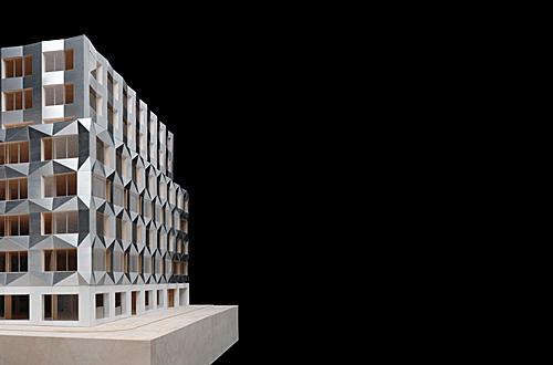 1 Modell Bürogebäude Prag