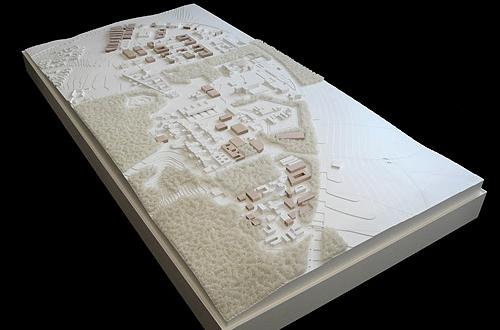 architekturmodell oberer eselsberg ulm b la berec. Black Bedroom Furniture Sets. Home Design Ideas