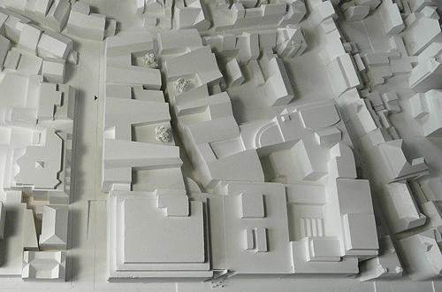 Architekten Esslingen architekturmodell karstadt areal esslingen béla berec modellbau 1 500