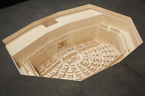 architekturmodell landtag von baden w rttemberg b la berec modellbau 1 50. Black Bedroom Furniture Sets. Home Design Ideas