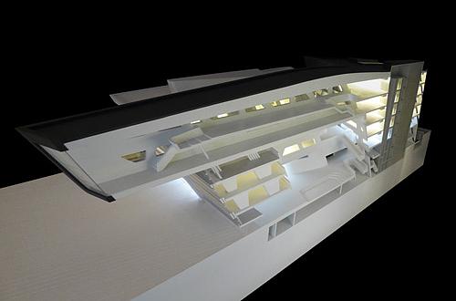 Architekturmodell llc wien b la berec modellbau 1 100 - Architektur schnitt ...