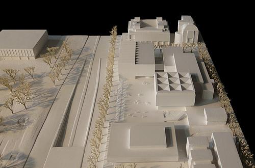 architekturmodell w rttembergische landesbibliothek b la. Black Bedroom Furniture Sets. Home Design Ideas