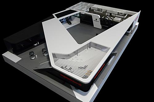 Architekturmodell Porsche Messestand Bei Der Internationalen