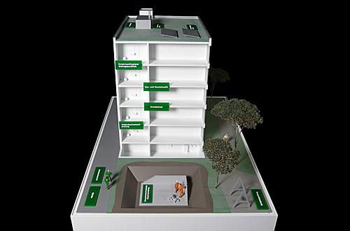 architekturmodell exponat f r dekra bau immobilien b la berec modellbau 1 50. Black Bedroom Furniture Sets. Home Design Ideas