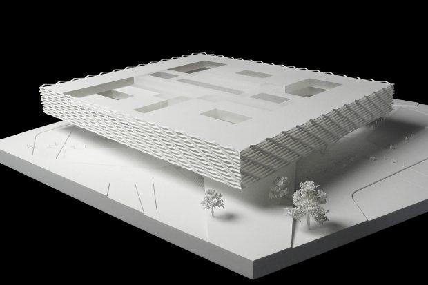 architekturmodell 06 wettbewerb modell behnisch architekten adidas southeast office building. Black Bedroom Furniture Sets. Home Design Ideas