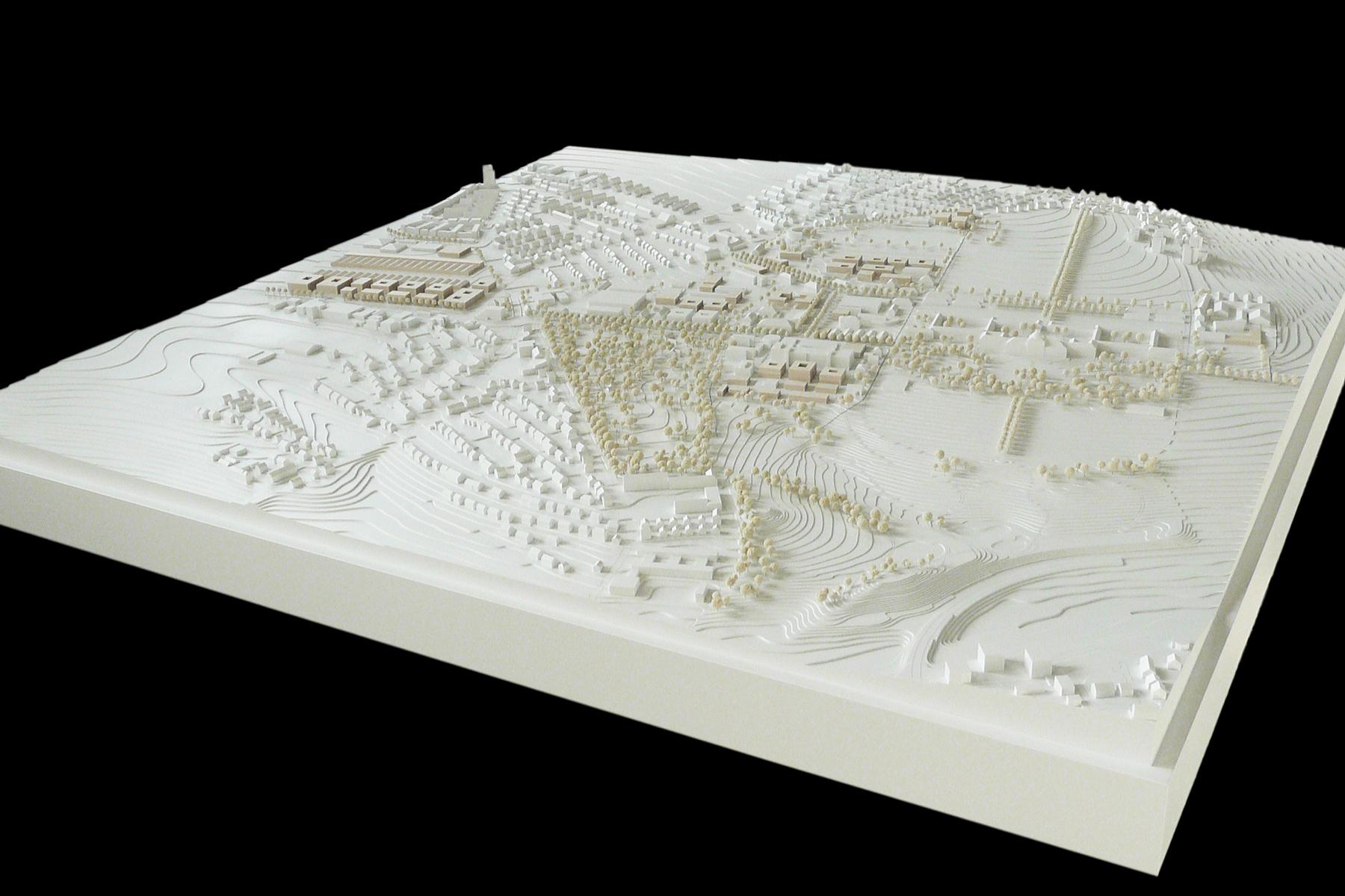architekturmodell campus universit t hohenheim b la. Black Bedroom Furniture Sets. Home Design Ideas