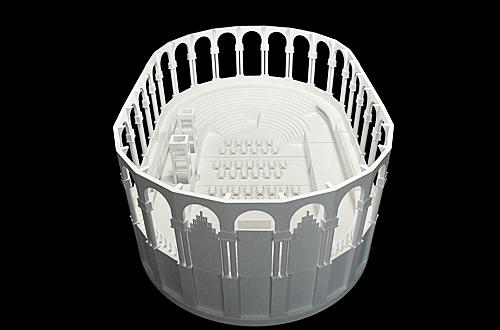 architekturmodell sala oval barcelona b la berec. Black Bedroom Furniture Sets. Home Design Ideas