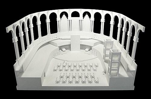Architekturmodell Sala Oval Barcelona Bela Berec Modellbau 1 87