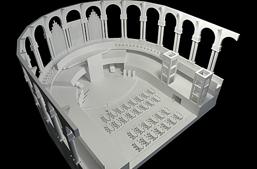 architekturmodell sala oval barcelona b la berec modellbau 1 87. Black Bedroom Furniture Sets. Home Design Ideas