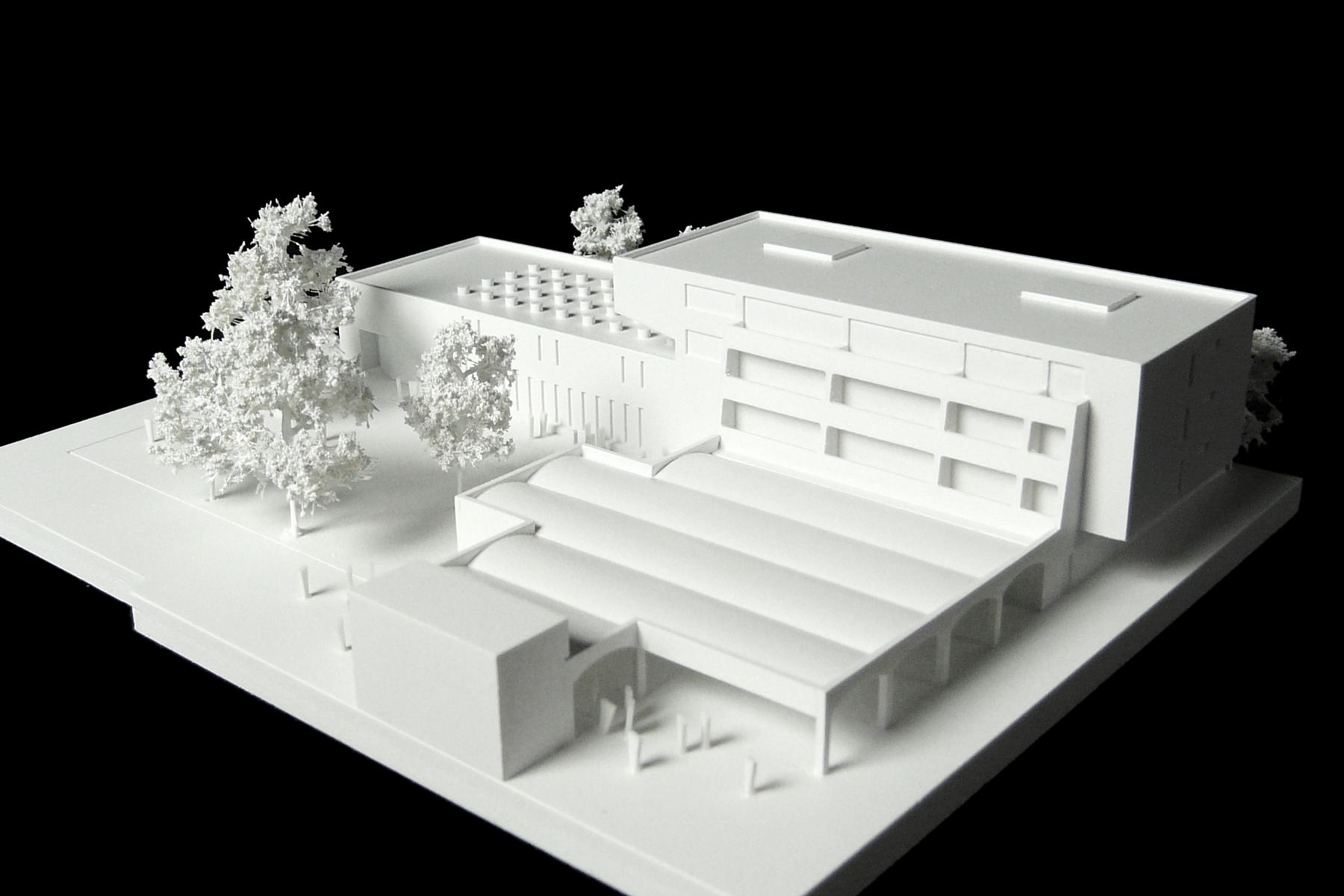 architekturmodell schulerweiterung und wohnen in k ln. Black Bedroom Furniture Sets. Home Design Ideas
