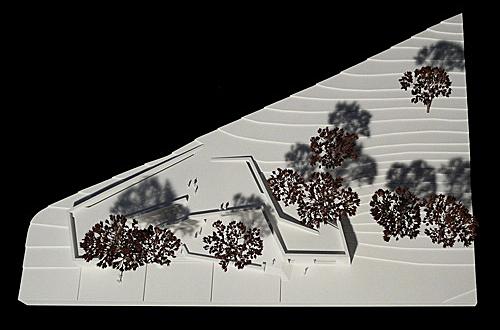 architekturmodell besucherzentrum niederwalddenkmal b la. Black Bedroom Furniture Sets. Home Design Ideas
