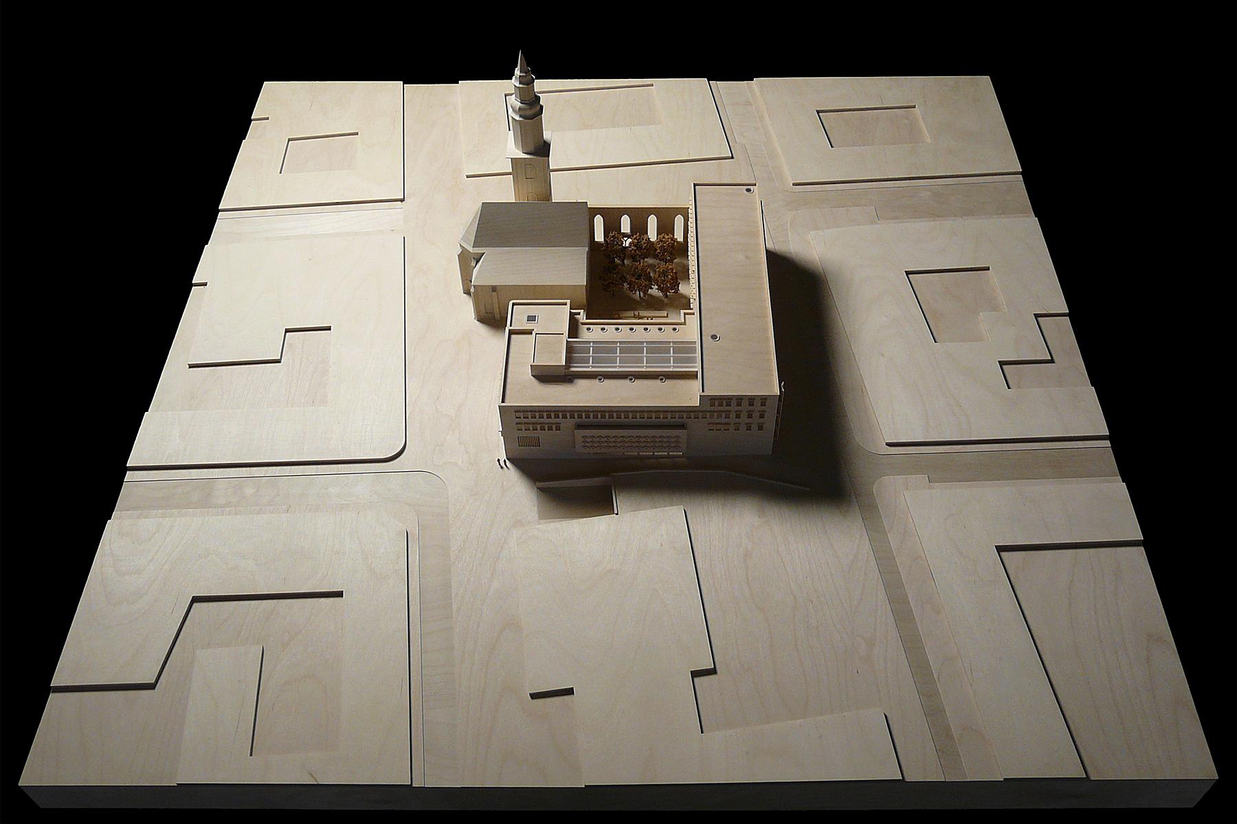architekturmodell hospitalhof stuttgart b la berec modellbau 1 200. Black Bedroom Furniture Sets. Home Design Ideas