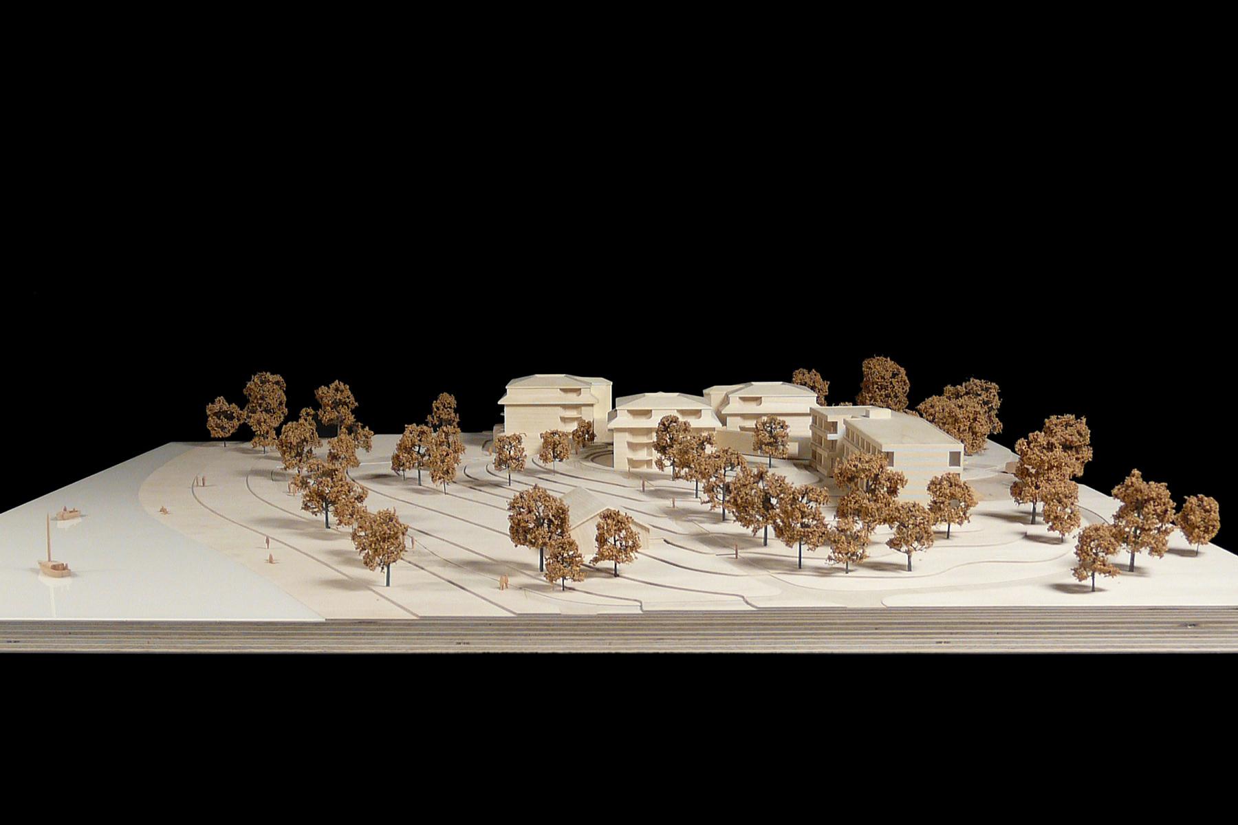 architekturmodell g stehaus mettnau b la berec modellbau. Black Bedroom Furniture Sets. Home Design Ideas