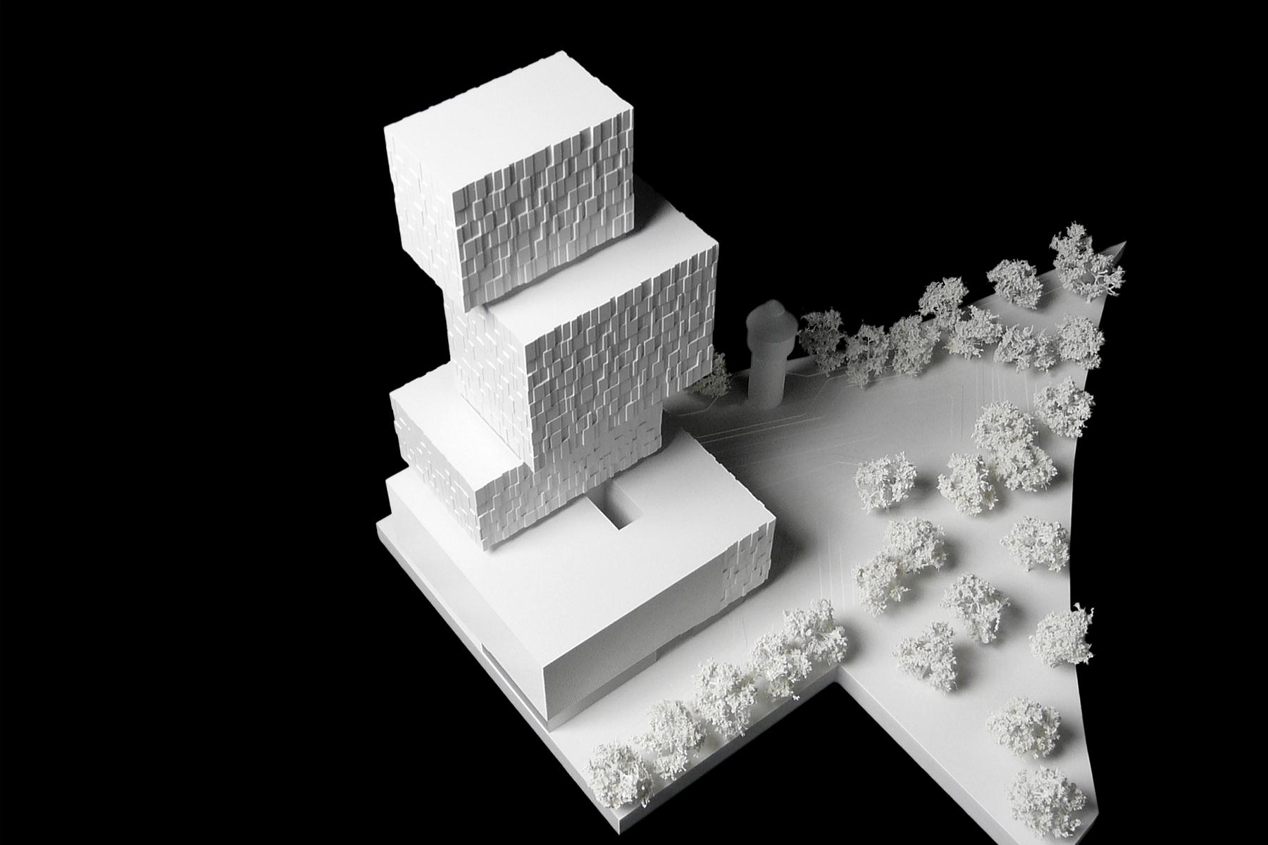 architekturmodell porsche design tower b la berec. Black Bedroom Furniture Sets. Home Design Ideas