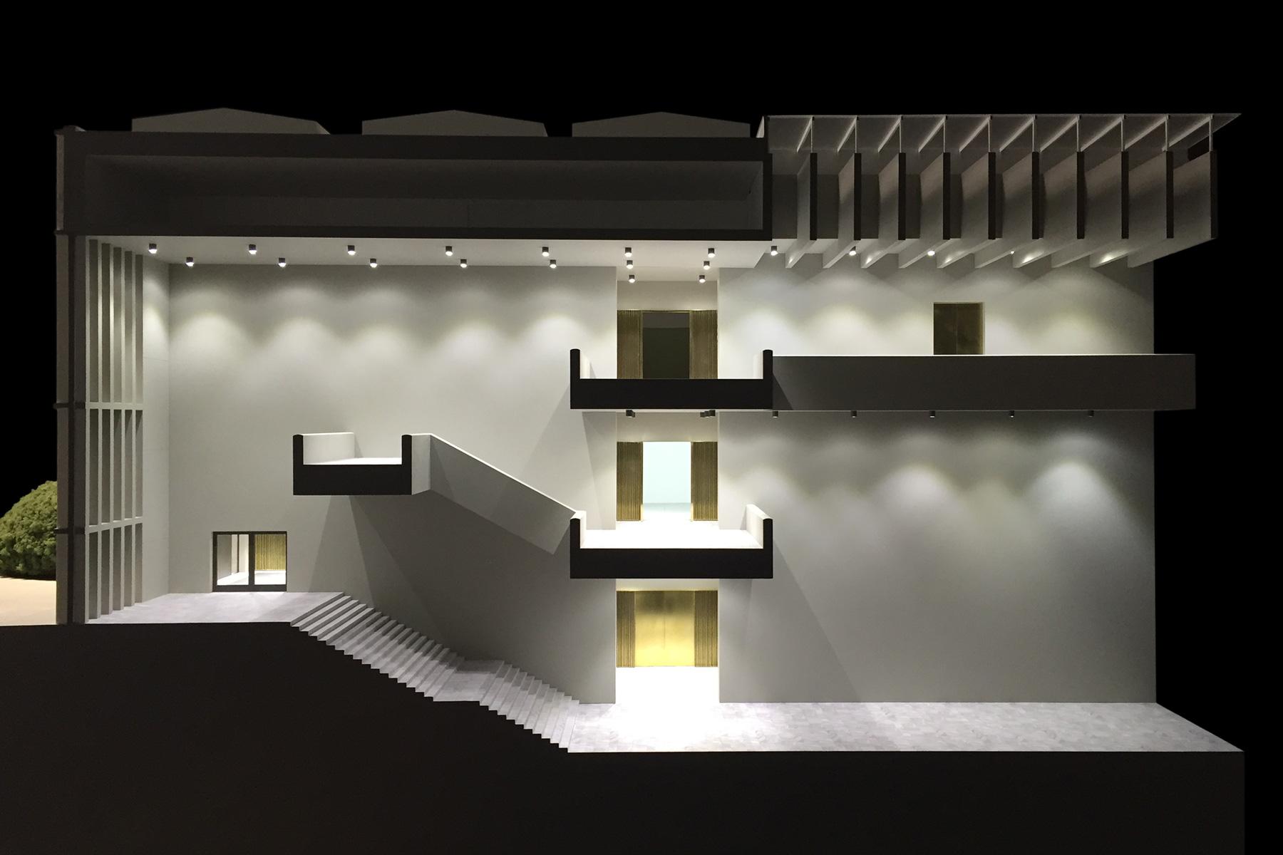 architekturmodell erweiterung kunsthaus z rich b la berec modellbau 1 33. Black Bedroom Furniture Sets. Home Design Ideas