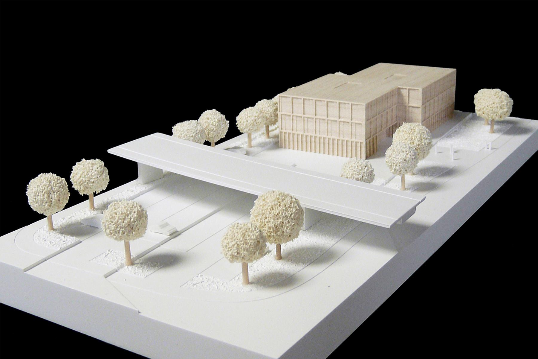 architekturmodell bkk kirchheim b la berec modellbau 1 500. Black Bedroom Furniture Sets. Home Design Ideas
