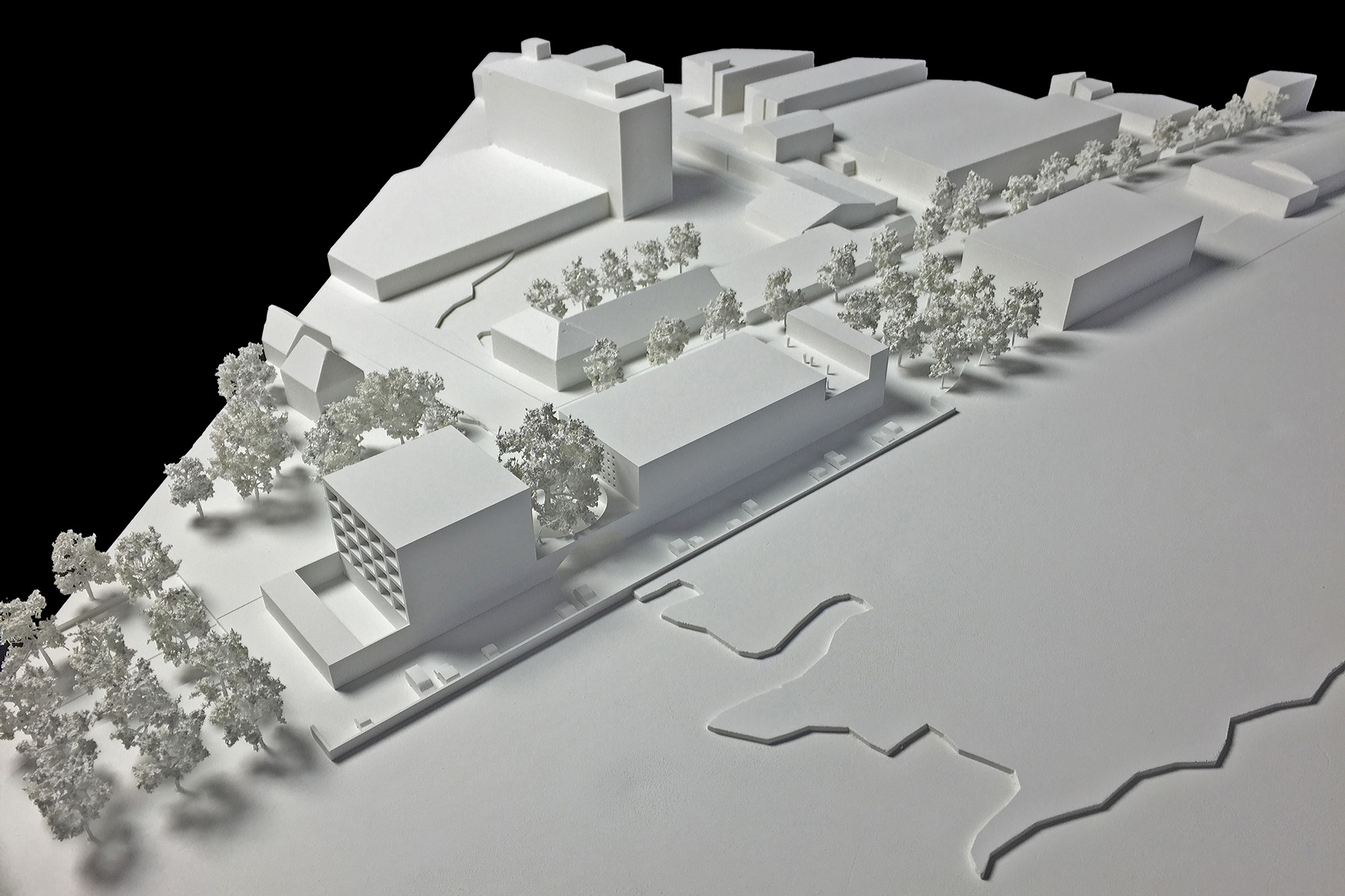 architekturmodell musikzentrum plochingen b la berec. Black Bedroom Furniture Sets. Home Design Ideas