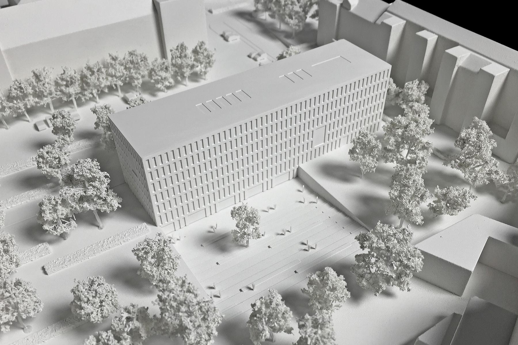 Architekten Karlsruhe architekturmodell finanzamt karlsruhe béla berec modellbau 1 500