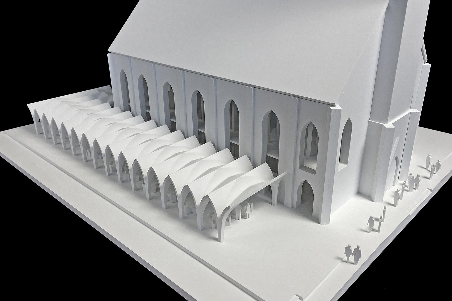 architekturmodell erweiterung der christuskirche in. Black Bedroom Furniture Sets. Home Design Ideas